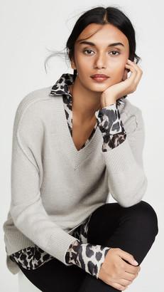 Brochu Walker V Neck Layered Sweater