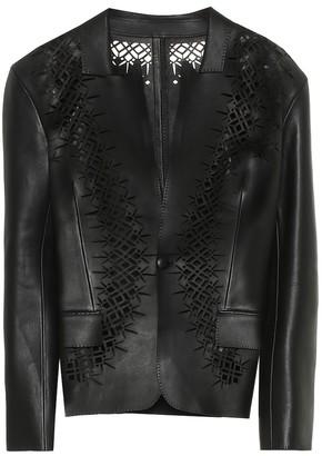 Haider Ackermann Laser-cut leather blazer