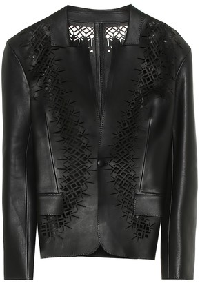 Haider Ackermann Laser-cut leather blazer