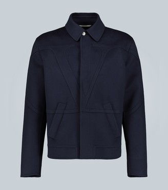 Valentino Appliqued cashmere-blend jacket