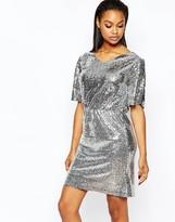 Boohoo All Over Sequin Dress