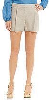 MICHAEL Michael Kors Wide Pleated Linen Shorts