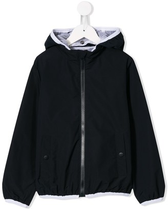 Herno zipped hooded jacket