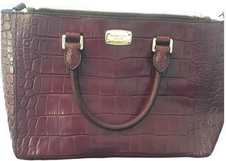 Michael Kors Sutton Burgundy Patent leather Handbags