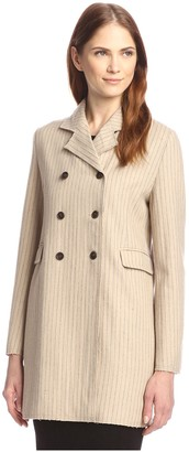 By Ti Mo Women's Pinstripe Trench Jacket