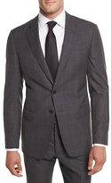 Giorgio Armani Textured Windowpane Wool Two-Piece Suit