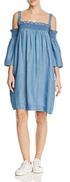 Blank NYC Blanknyc Cold Shoulder Chambray Dress