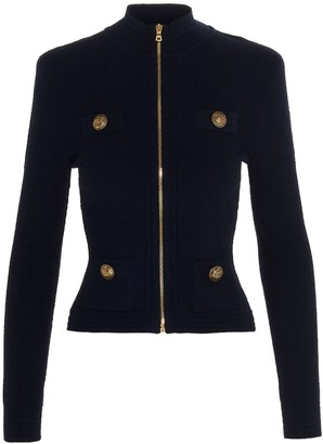 Balmain Front Zip Knitted Jacket