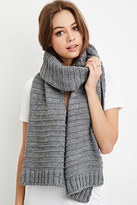 Forever 21 Chunky Striped-Knit Scarf