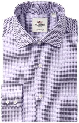 Ben Sherman Patterned Tailored Slim Fit Dress Shirt