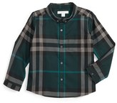 Burberry Toddler Boy's Mini Fred Check Woven Shirt