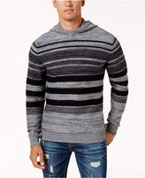 American Rag Men's Striped Hoodie Sweater, Created for Macy's