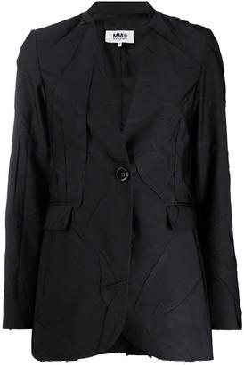 MM6 MAISON MARGIELA Crinkled Buttoned Blazer