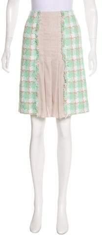 Chanel Tweed Pleated Skirt