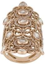 Loree Rodkin 18kt rose gold and diamond long finger ring