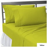 """{ 100% Egyptian Cotton } Super Soft 400 Thread Count 1 Fitted Sheet and 2 Pillowcase Queen Size with 8"""" deep pocket in New Yellow color and Solid Pattern"""