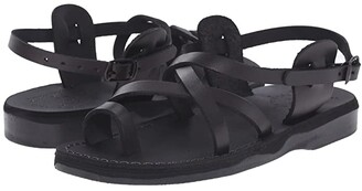 Jerusalem Sandals The Good Shepherd Buckle - Womens (Black) Women's Shoes