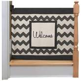 """The Stair Barrier 52-Inch Chevron """"Welcome"""" Wall to Banister Gate in Black/Beige"""