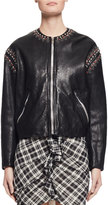 Isabel Marant Buddy Studded Leather Jacket, Black