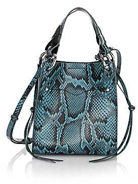 Rebecca Minkoff Women's Mini Kate Snakeskin-Embossed Leather Tote