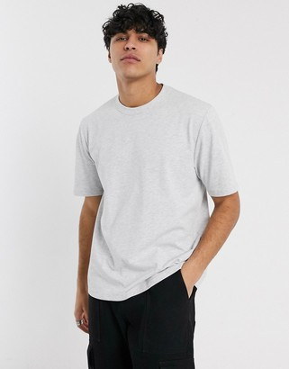 Asos loose fit heavyweight t-shirt in white marl