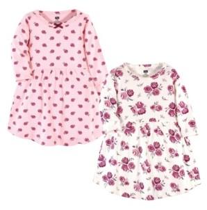 Hudson Baby Baby Girls Rose Dresses, Pack of 2