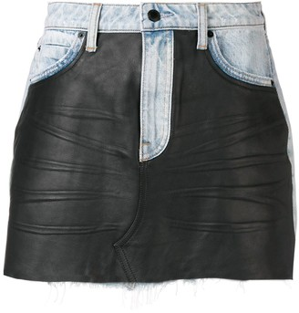 Alexander Wang Combined Mini Skirt
