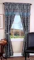 Achim Home Furnishings Logan 5-Piece Window in a Bag Set, 2 Curtain Panels, Attached Valance, 2 Tiebacks