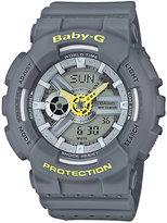 Baby-G Punching Pattern Grey Resin Strap Watch