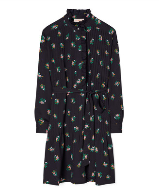 Tory Burch Cora Daybreak Ditsy Ruffle-Front Dress