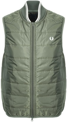 Fred Perry X Lavenham Gilet Green