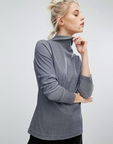 Weekday Fine Rib High Neck Top