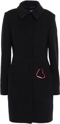 Love Moschino Embellished Brushed Wool-blend Felt Coat