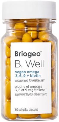 BRIOGEO B.Well Vegan Omega 3,6,9+ Biotin Hair Supplement