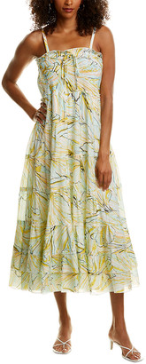 Diane von Furstenberg Julia Silk-Blend Midi Dress