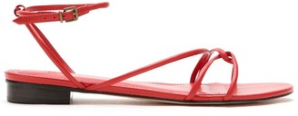 Nk Leather Flat Sandals