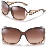 Dior Open Temple Oversized Sunglasses