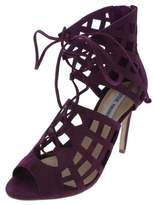 Steve Madden Womens Sedduce Peep Toe Cut-Out Dress Heels