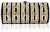 Judith Leiber Clark Cylinder Crystal Clutch Bag, Champagne/Multi