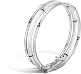 John Hardy Bamboo Bangles in Silver with Enamel, Set of 3