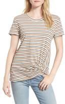 Stateside Women's Stripe Twist Front Tee