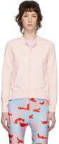 Comme des Garcons Pink and Purple Double Crewneck Sweater
