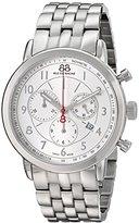 88 Rue du Rhone Men's 87WA120044 Double 8 Analog Display Swiss Quartz Silver Watch