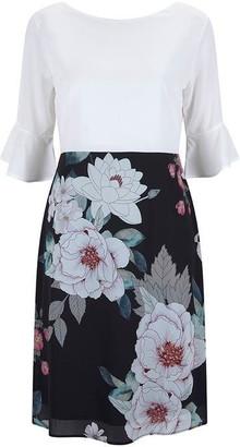 Havren Nicola Fluted Sleeve Dress
