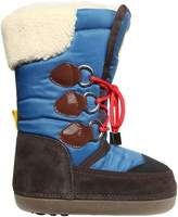 DSQUARED2 Nylon Canvas & Faux Shearling Boots