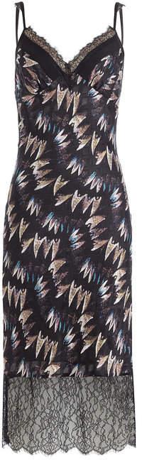 Diane von Furstenberg Printed Silk Dress with Lace