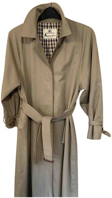 Aquascutum London Beige Cotton Trench Coat for Women Vintage