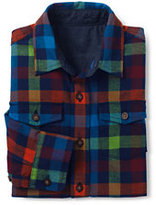 Classic Boys Husky Flannel Shirt-Regiment Navy Multi Check