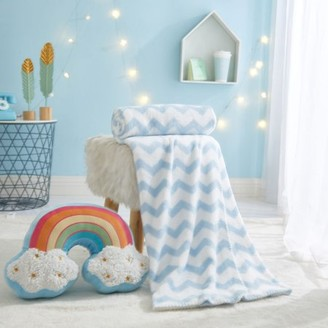 Heritage Club 2 Piece Pillow and Throw Set for Kids, Rainbow