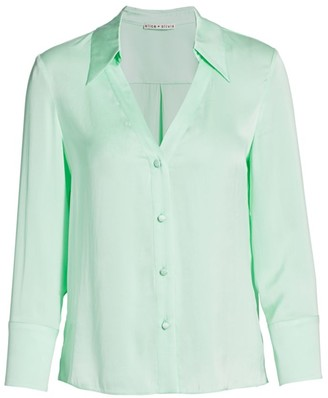 Alice + Olivia Hope Silk-Chiffon Blouse
